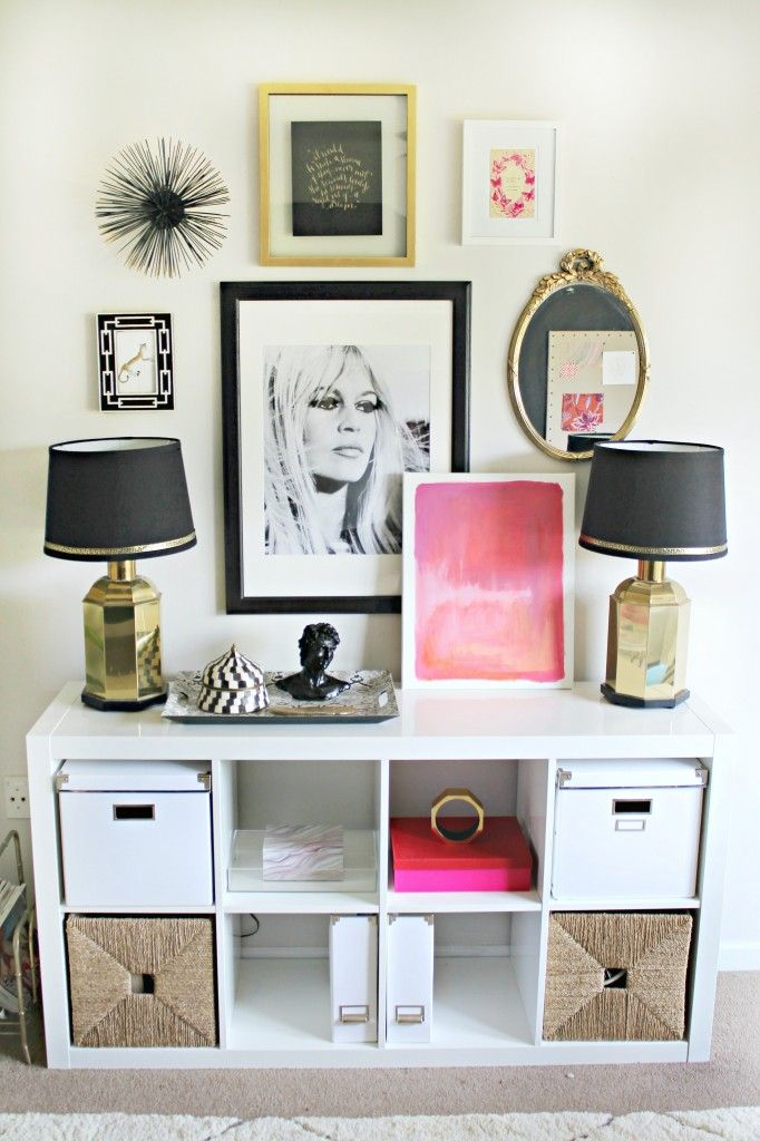 Pop\u0027s of Pink + Feminine Chic-Shannon Claire\u0027s Home Office Space