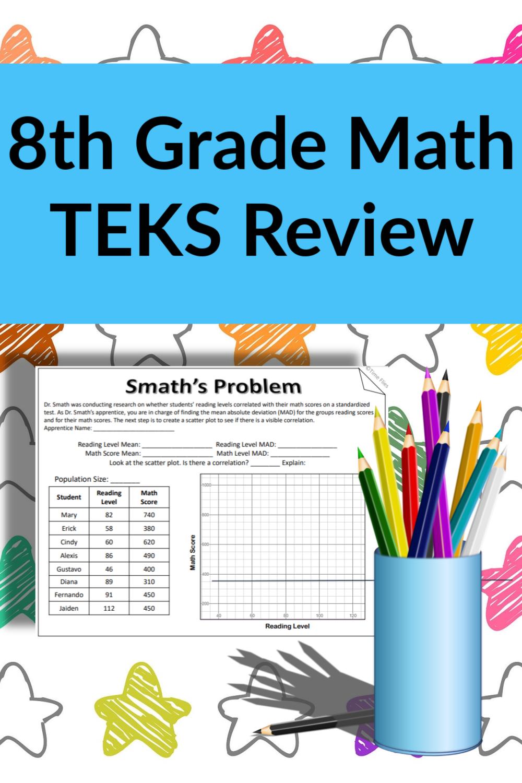 Staar Review For 8th Grade Math 8th Grade Math Staar Math Staar Review Math [ 1500 x 1000 Pixel ]