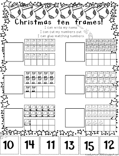 Christmas 10 Frames Christmas Kindergarten Christmas Math Preschool Math