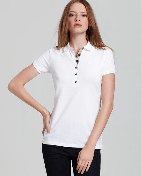 Burberry Brit women polo shirt White Color size: XS,M,L,XL