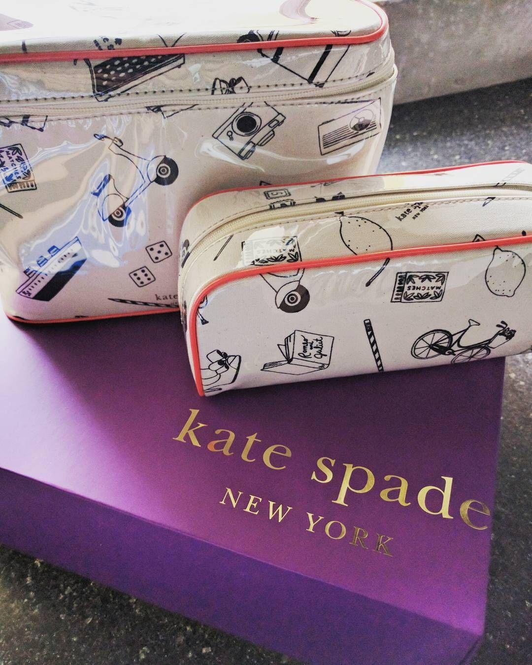 Kate Spade cosmetic bags #katespade #ireallydidntneedit #livecolorfully