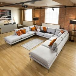 U Shape Cinema Modular Sofa Grey