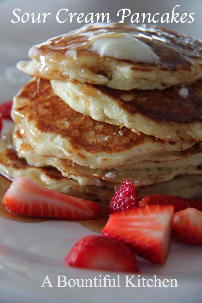 Sour Cream Pancakes A Bountiful Kitchen Recipe Sour Cream Pancakes Sweet Cream Pancakes Recipe Recipes