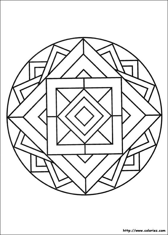 mandala 3D | coloriages | Pinterest | 3d