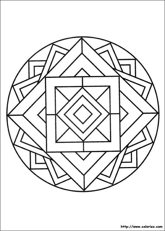 Mandala 3d Coloriage Mandala Facile Coloriage Mandala Et