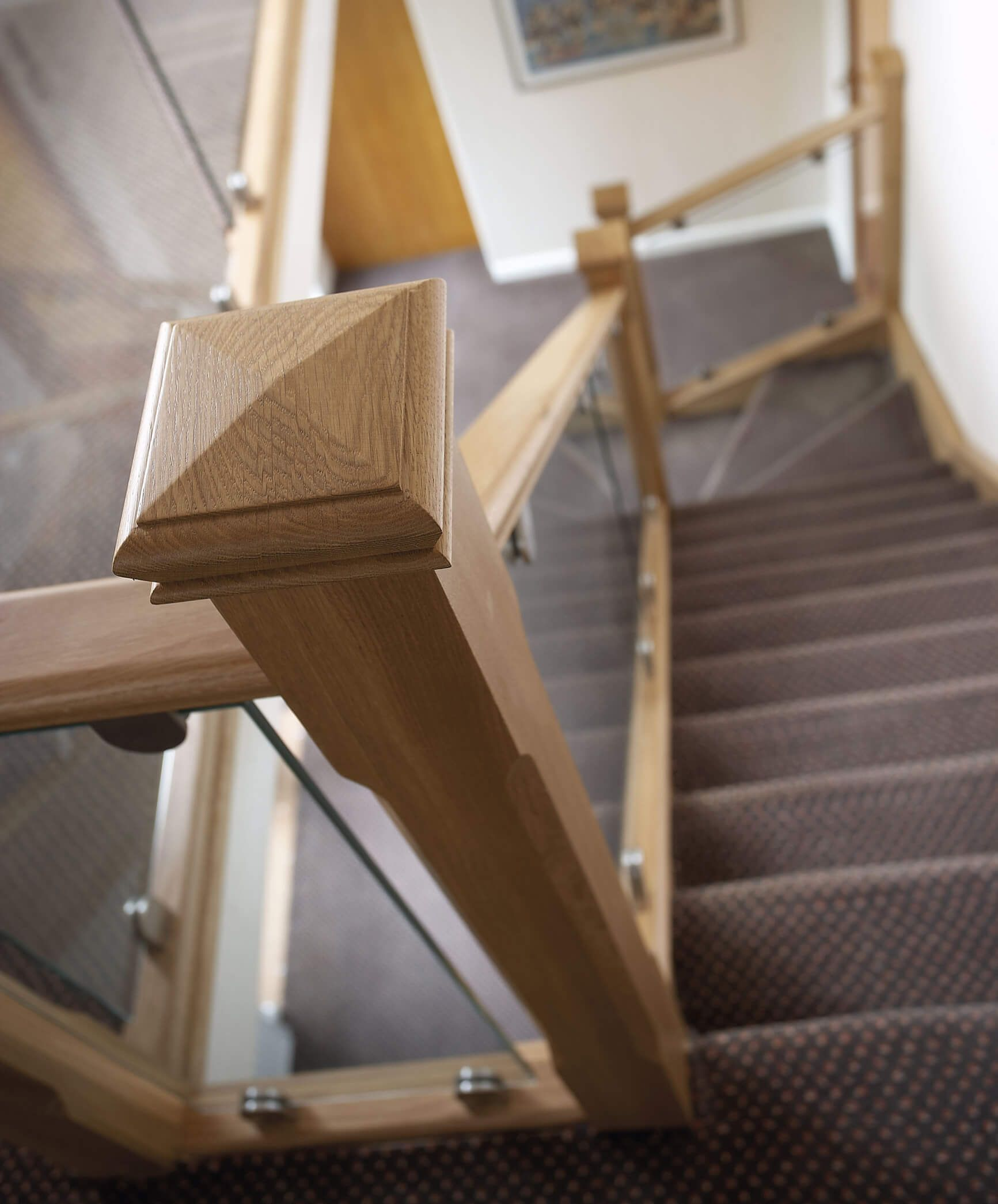 Modern Interior Staircase Materials Photo: Modern Oak And Glass Staircase UK
