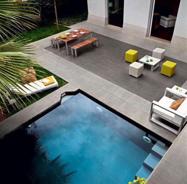 Revestimiento de pared suelo de gres porcel nico para - Suelos piscinas exteriores ...