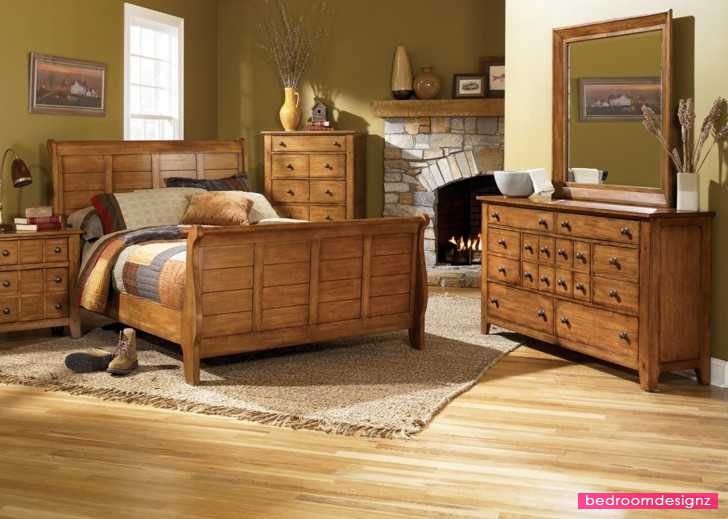 Bedroom Decorating Ideas With Pine Furniture attractive organic style with pine wood as bedroom furniture