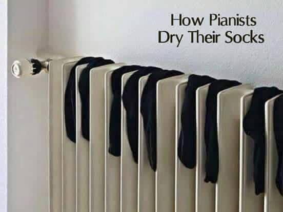 How Pianists Dry Their Socks Music Meme Piano Classical Music Humor Music Humor Pianist