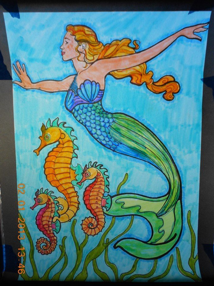 Image result for Free Mermaid Patterns Stained Glass