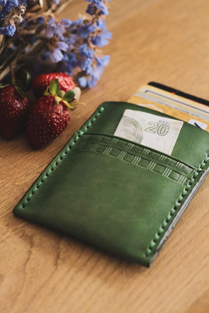 Business card case mens wallet leather wallet wallets
