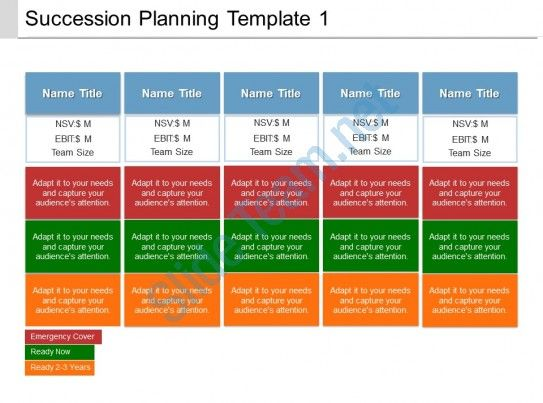 succession planning template 1 ppt presentation examples Slide01 - succession planning template