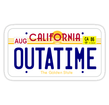 Outatime Sticker By Earlofportland Back To The Future Back To The Future Party License Plate