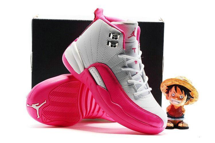 dc1196ee51e Kids Boys Air jordan 12 XII Valentines Day Pink White   Air Jordan ...