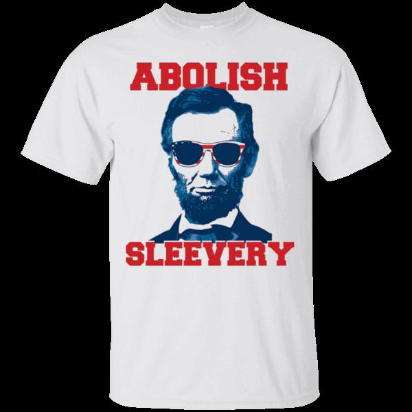 238894ef958e6d Abe Lincoln Abolish Sleevery t-shirt