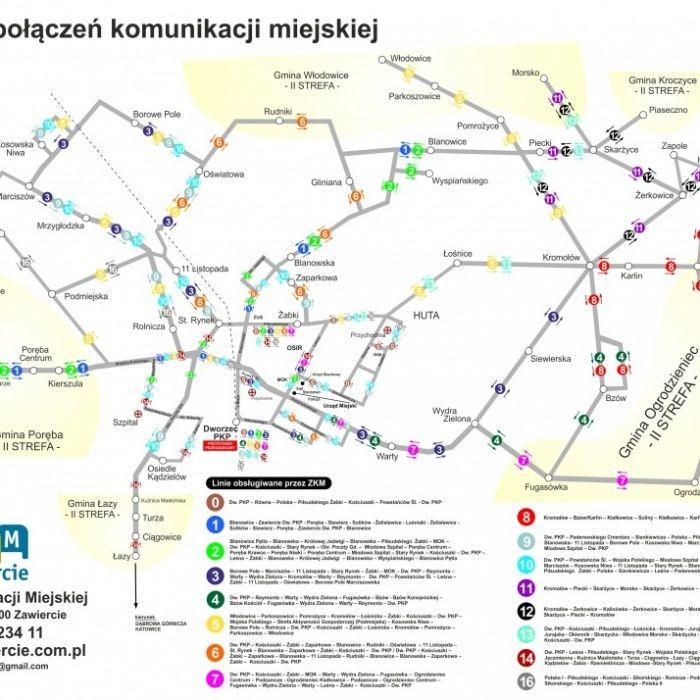 Plan Sieci Zakład Komunikacji Miejskiej Sp Z Oo W Zawierciu