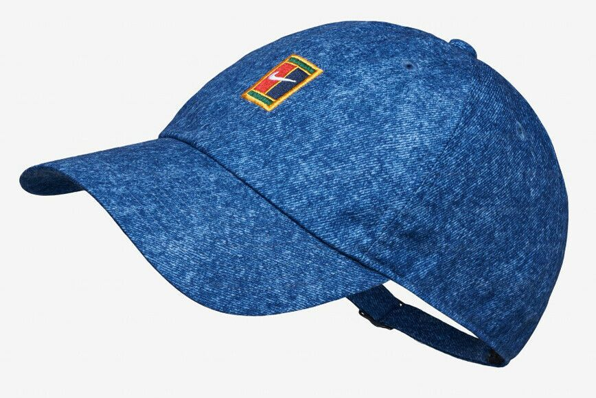 Nike Court Aerobill Heritage 86 Blue Tennis Hat Cap Badminton Black Av6965 438 Nike Tennishat Badminton Fitted Baseball Caps Nike Hat