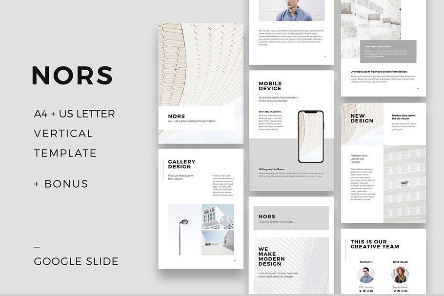 NORS Vertical Google Slide GIFTpresentation design  presentation layout  presentation  presentation board design  presentation template