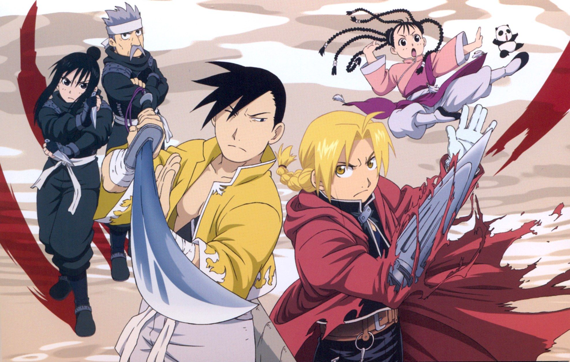 Tags Fullmetal Alchemist Edward Elric Ling Yao Brotherhood May Chang Lan Fan Official Art Fu FMA Xing Country