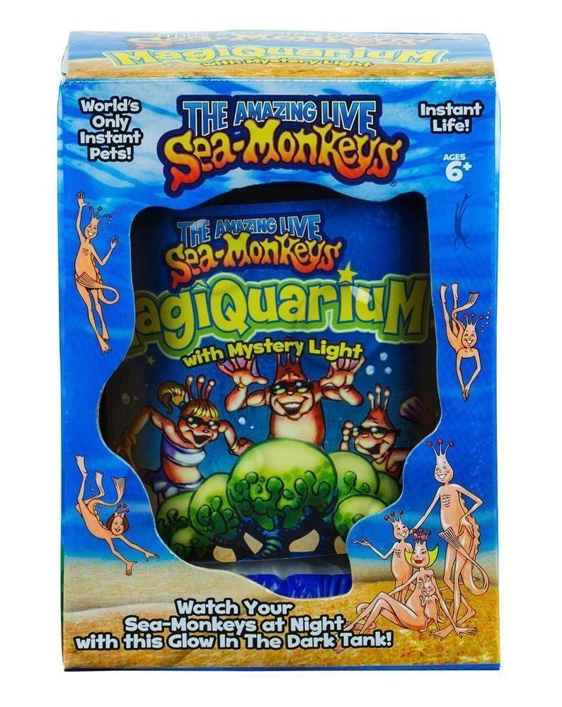 Sea Monkeys Magiquarium With Mystery Light Glow In The Dark 67420 Sea Monkeys Baby Learning Toys Learning Toys For Toddlers