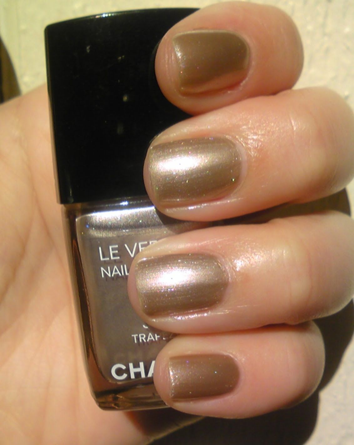 champagne metallic nails by #chanel | Nails | Pinterest