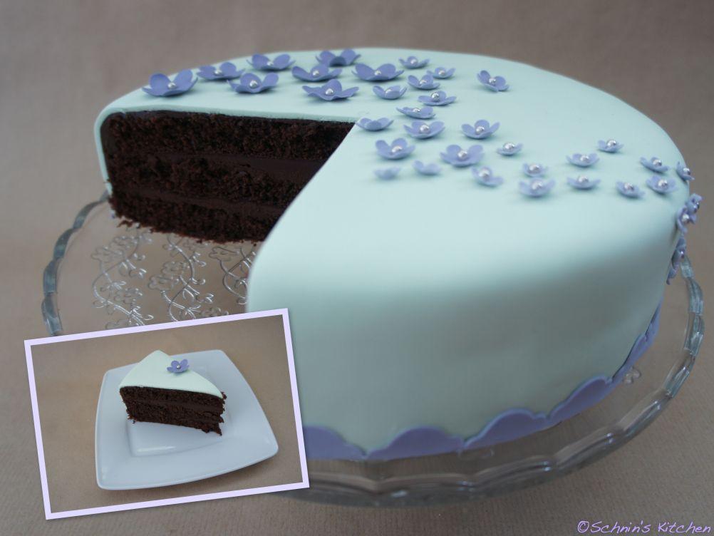 Fondant-Schoko-Torte - und eine Premiere #fondant