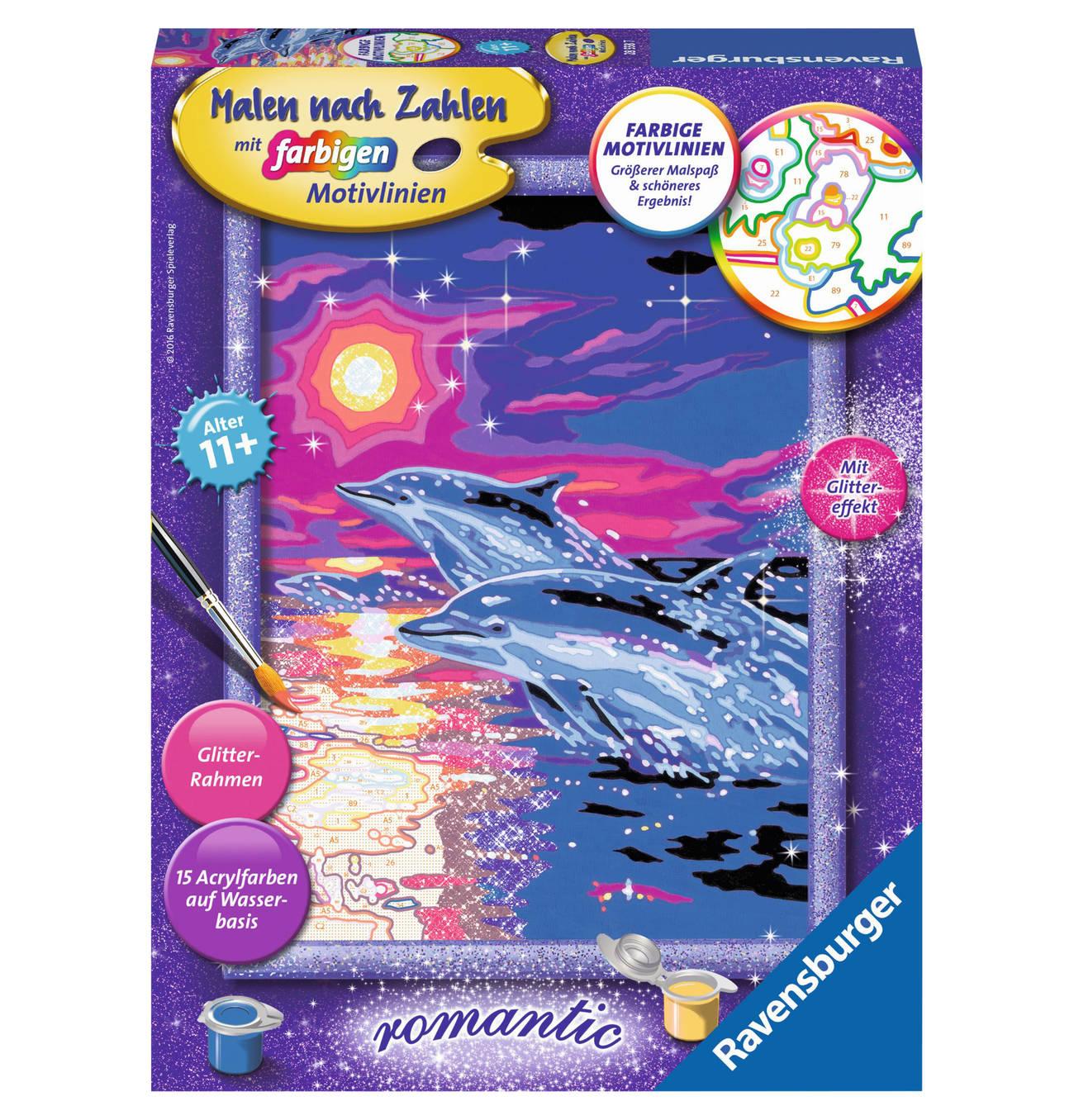 Delfine Im Sonnenuntergang Sonnenuntergang Malen Nach Zahlen