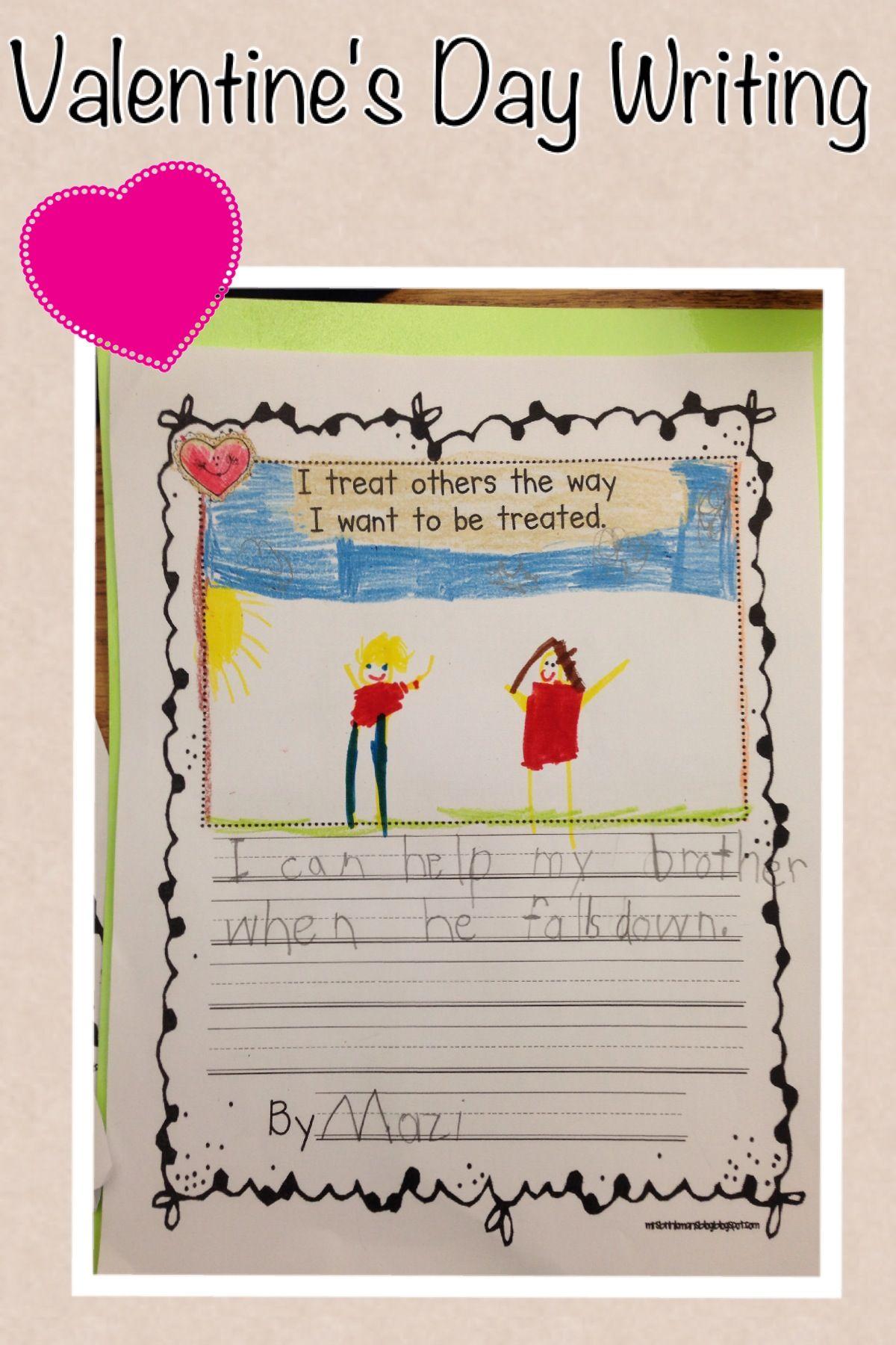 Mrs Brinkman S Blog Valentine S Day Activities Valentines Day Activities Elementary Valentines Elementary Writing Prompts Valentine day writing activities for