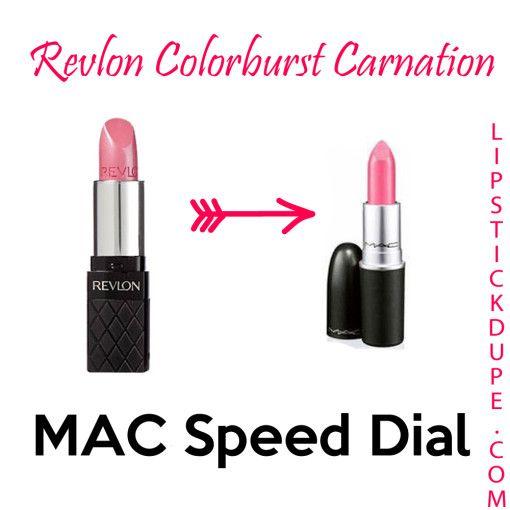 Lipstick Dupe- Revlon Colorburst Carnations dupe for MAC
