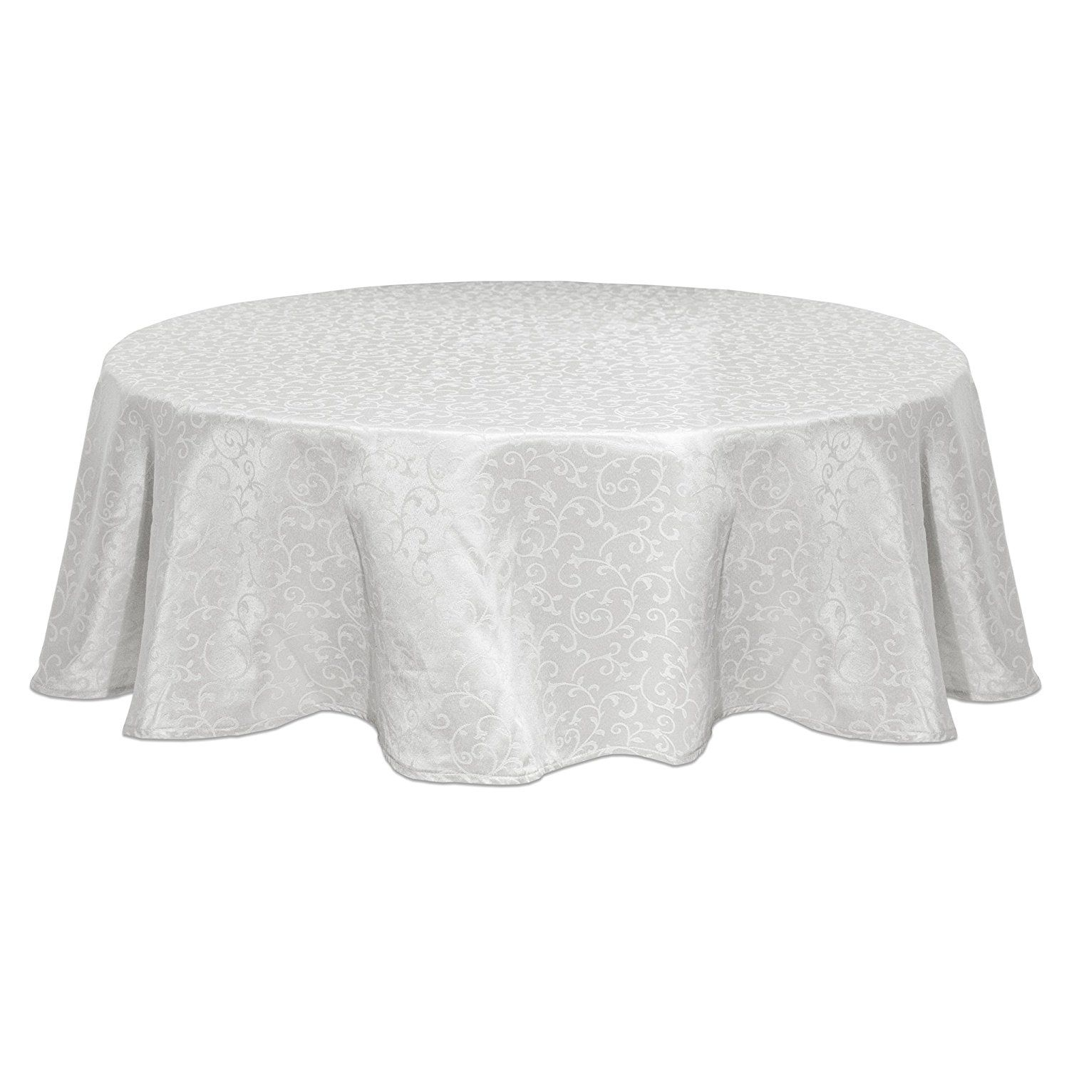 Lenox Opal Innocence 70 Inch Round Tablecloth White