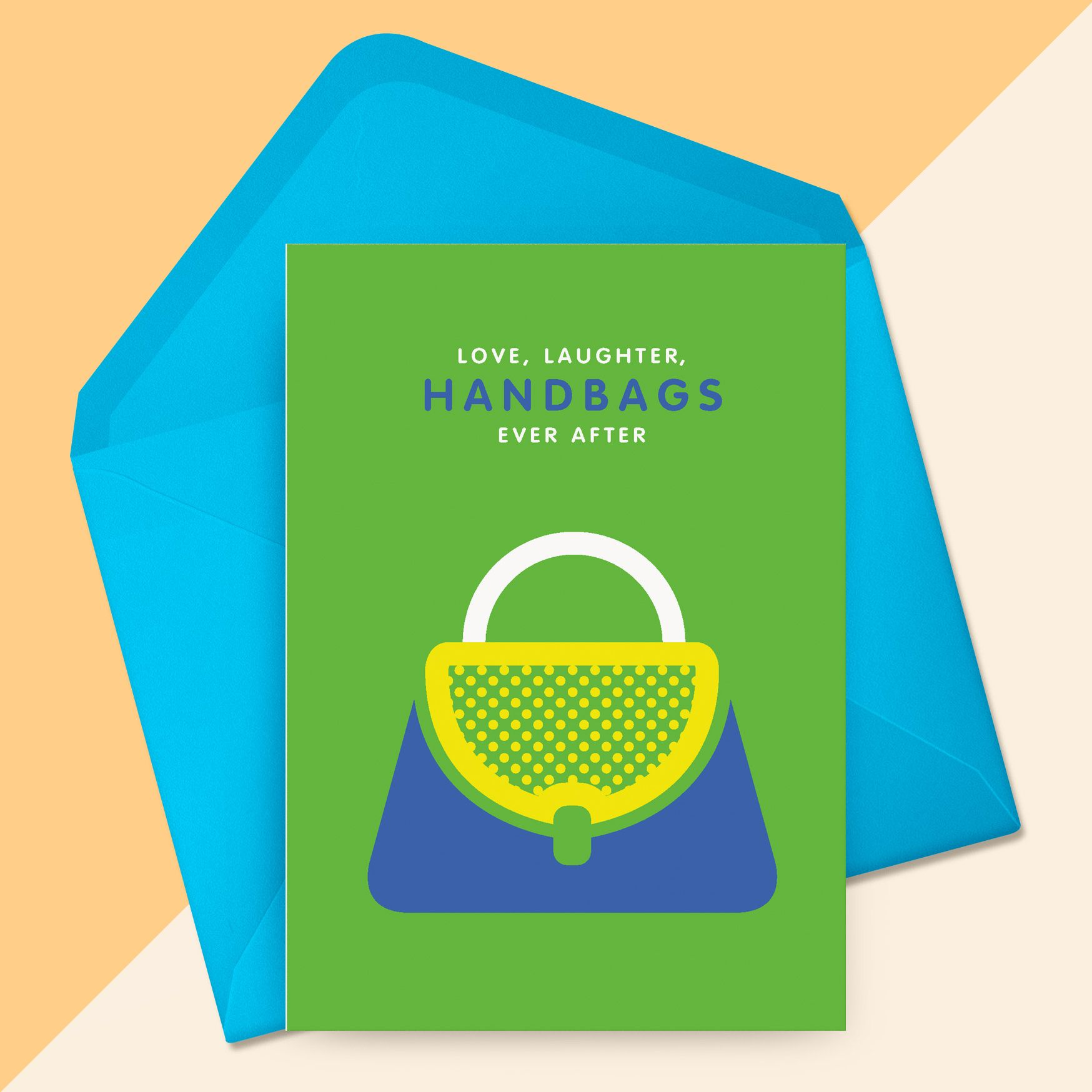 Handbags Ever After Greetings Card. A6 size and comes with ...