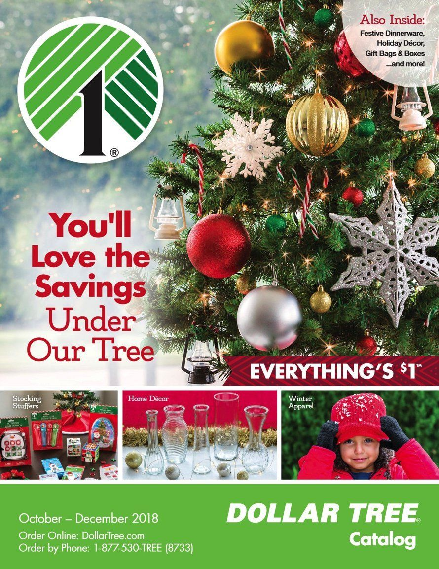 The 2018 Dollar Tree Holiday Catalog Is Available Dollar Tree Christmas Decor Xmas Decorations Holiday