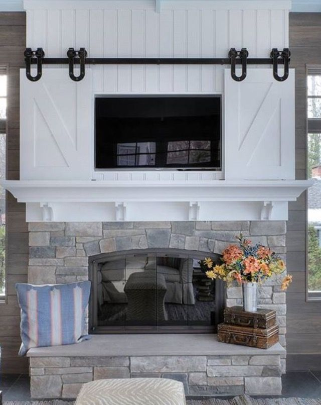 Example Re The Tv Cabinet Above Fireplace Upstairs