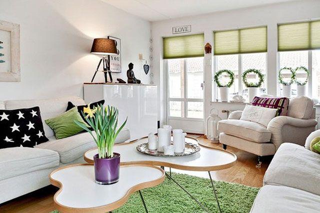 Charmant Verdure Et Blancheur Pour Un Décor Meuble Design