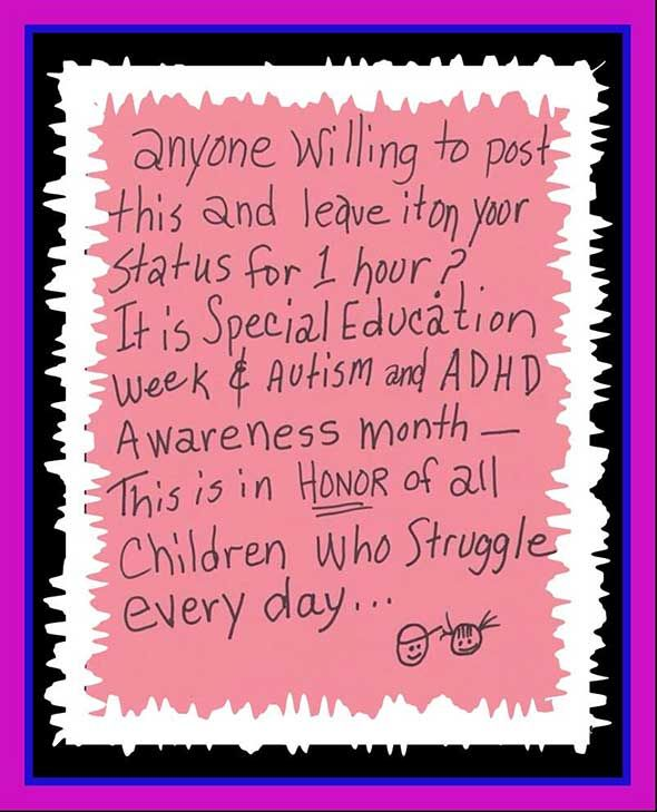 Adhd And Special Education >> Autism And Adhd Awareness Month Things I Care About Adhd
