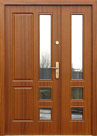 Double-leaf wooden external door model 909.1 in color …