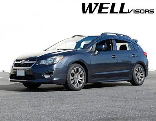 WellVisors Premium Series Side Rain Guard Window Visors Deflectors For 13-16 Subaru Impreza Sport XV Crosstrek 2013 2014 2015 2016 13 14 15 16 XV-Crosstrek