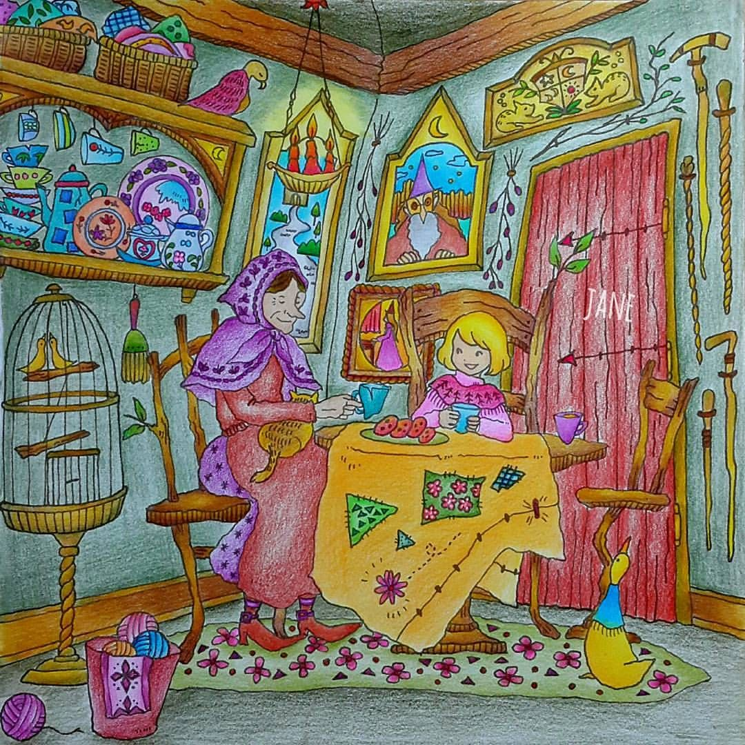 pin auf romantic country coloring book finished pages  eriy