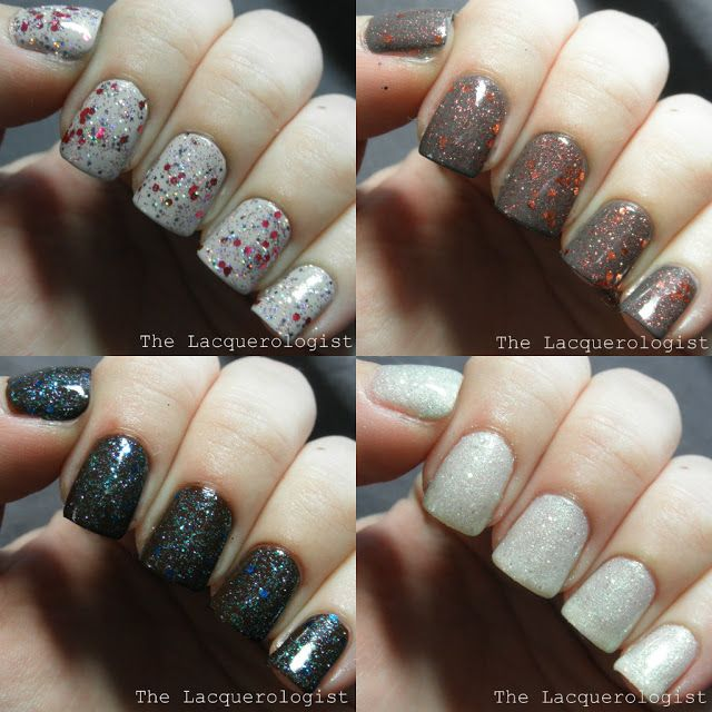 The Lacquerologist: Twinkle Twinkle Little Star: Priti NYC Holiday 2013 Glitter Overlay Swatches and Review!