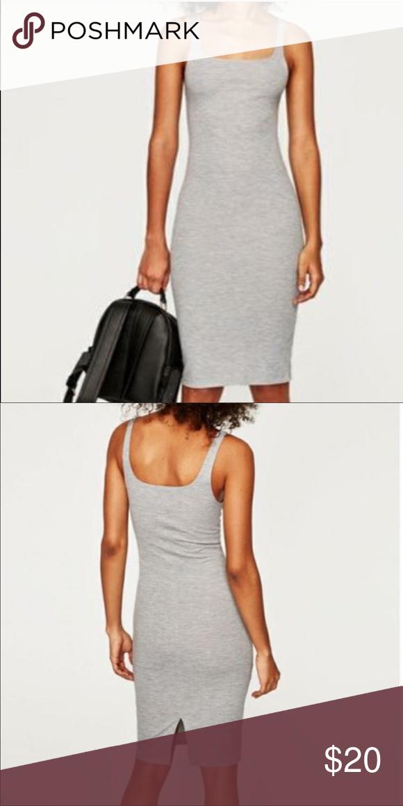 c43706800deab Zara midi bodycon dress Zara Gray bodycon dress