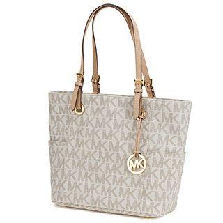 206845951bdb MICHAEL Michael Kors East West Brown Signature Tote Bag