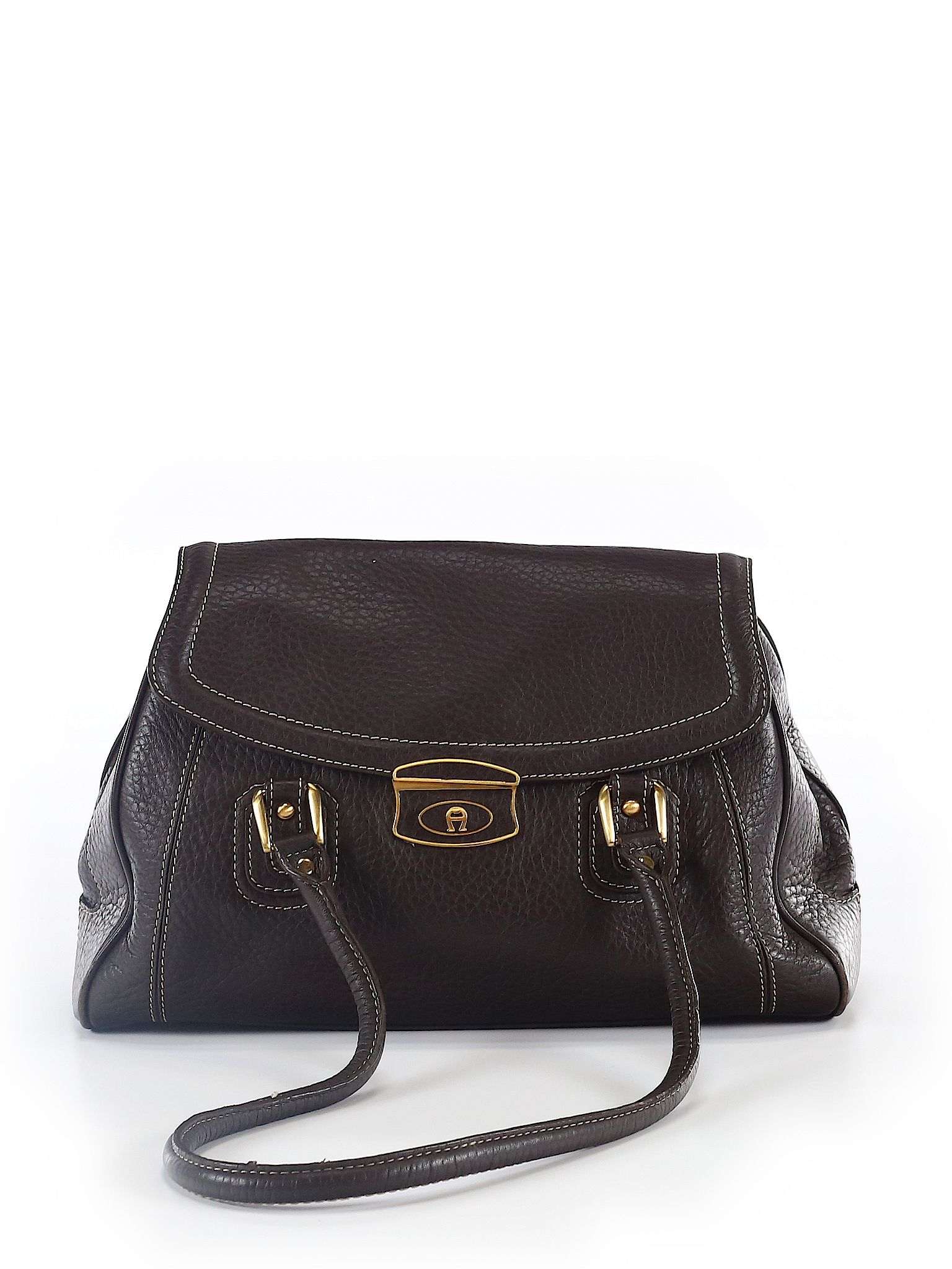 56558e2a95a6 Etienne Aigner Leather Shoulder Bag  Size NA Brown Women s Bags -  59.99