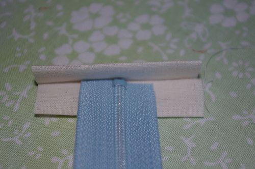 easy method for inserting a zipper