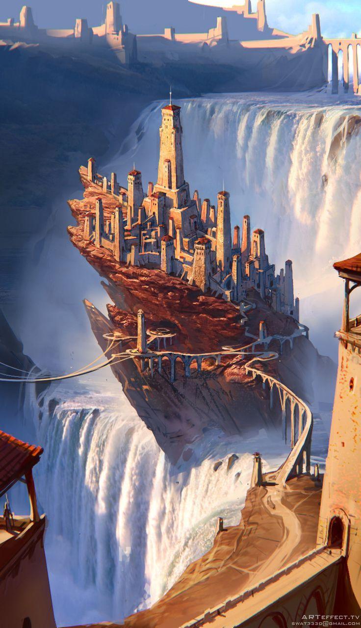 Photo of Waterfall rock castle , Sviatoslav Gerasimchuk