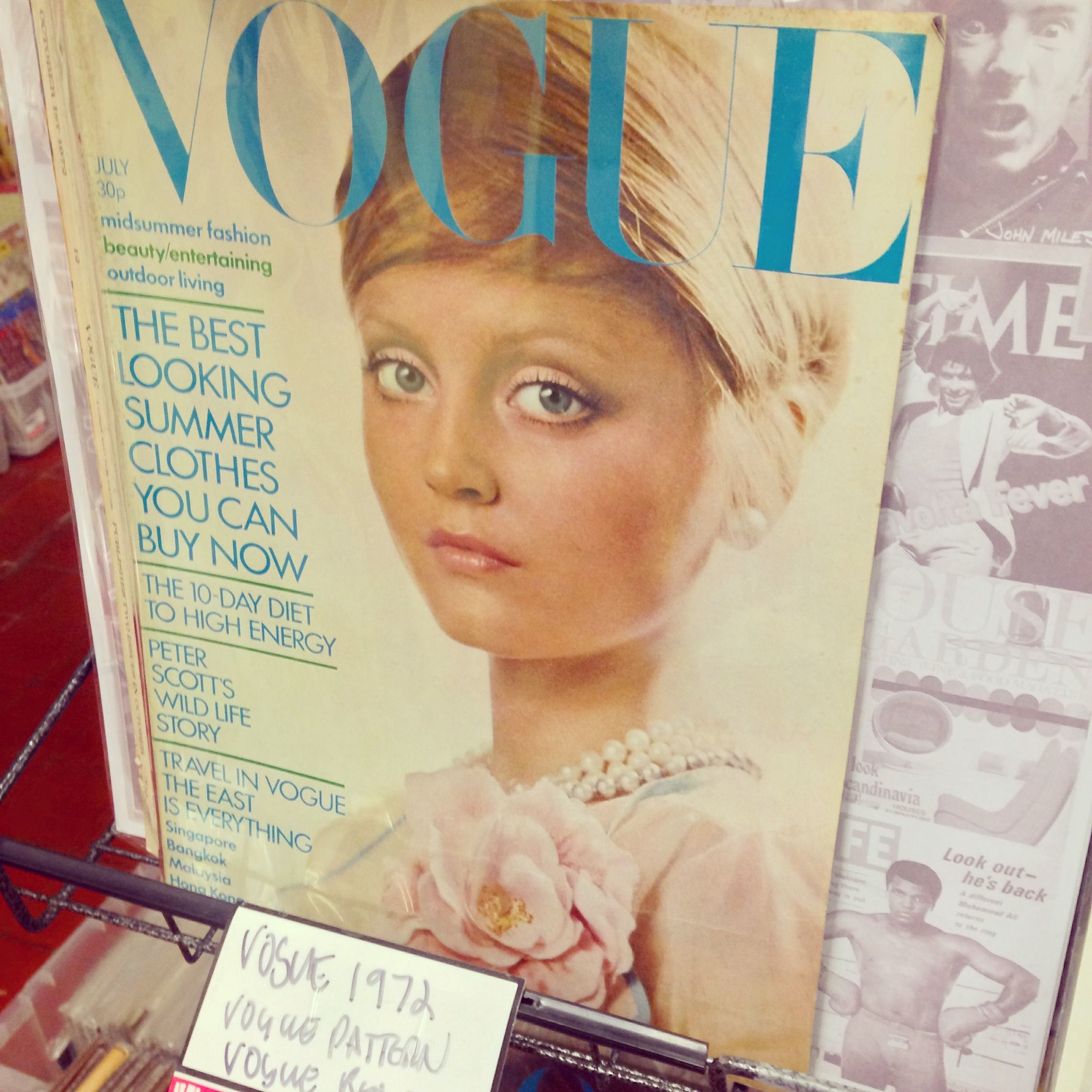 inspirational magic:) new blog post. #vogue #vintagemagazine #1972 #fashion