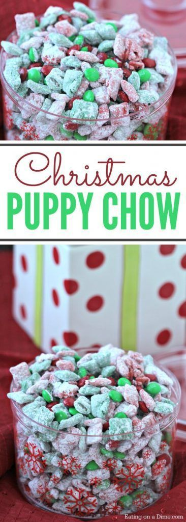 Christmas Puppy Chow.Christmas Puppy Chow
