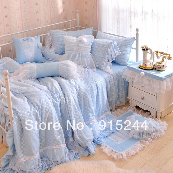 Cheap Bedding Set, Buy Quality King Laces Directly From China Bedding Set  Suppliers: Princess Korean Bedding Sets QUEEN KING Lace Satin Bedding  Bedskirt ...