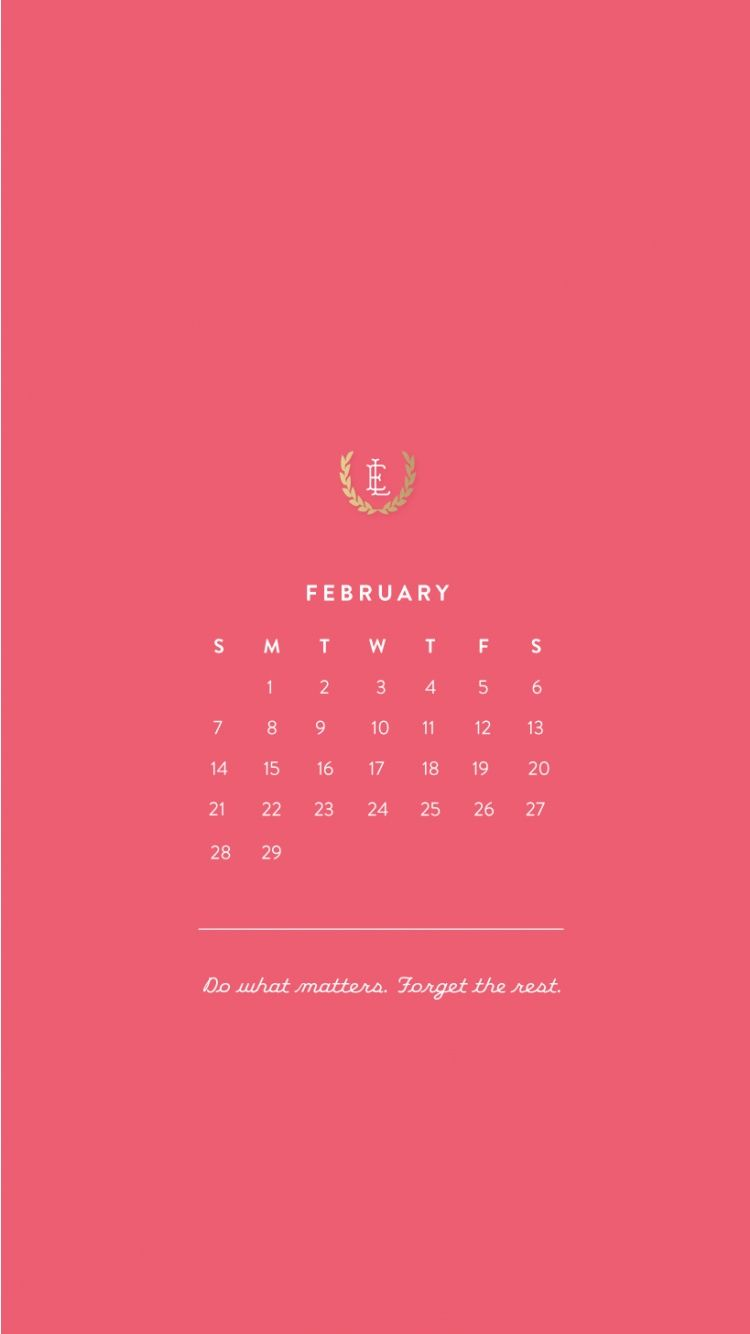 February 2016 iPhone HD Calendar Wallpapers.Tap to see ...