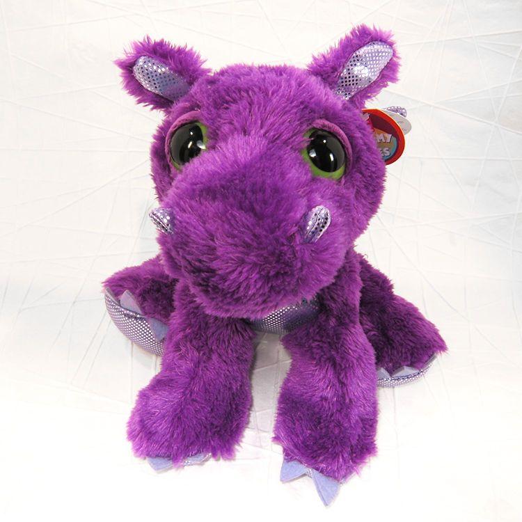 Flame The Purple Dragon Dreamy Eyes Stuffed Animal Dragon