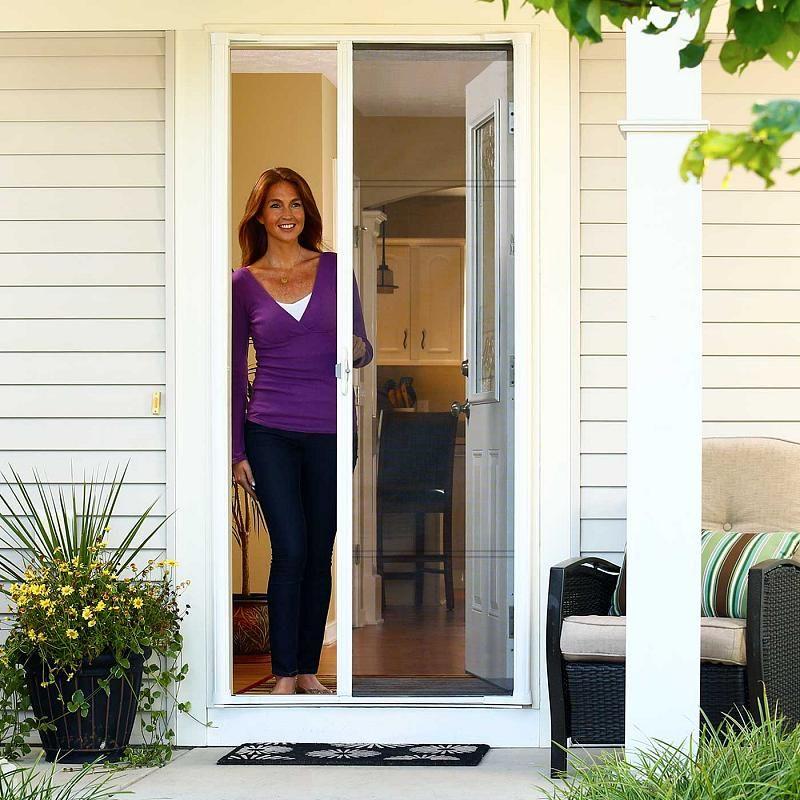 Odl Brisa Retractable Screen Doors For Single Exterior Doors Double Doors French Doors Sliding Doors Retractable Screen Retractable Screen Door Screen Door